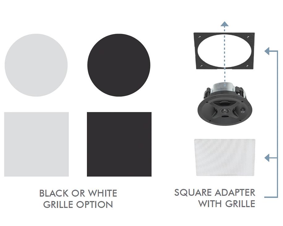 PS-C43RTLP Low Profile In-Ceiling Speaker