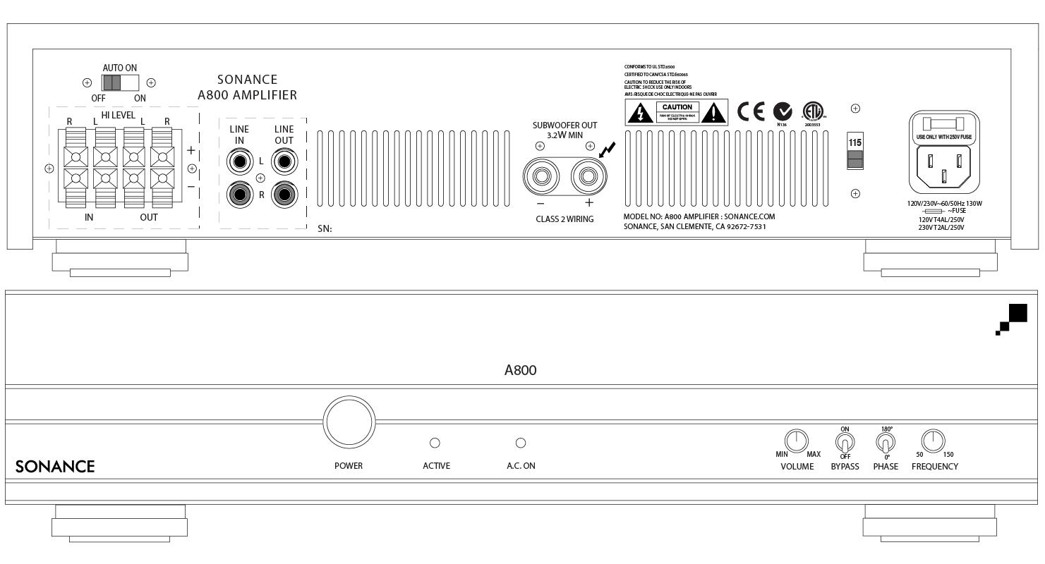 Single Channel Amplifiers - Line Art